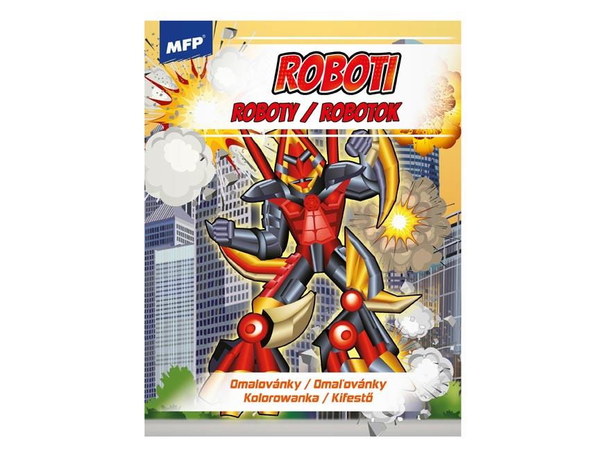 omaľovánky A4 Robots 1 210x276/32 5301004