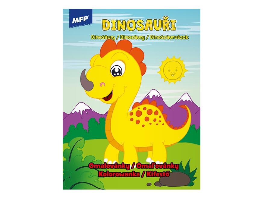 omaľovánky A4 Funny Dinosaurus 210x276/32 5301005