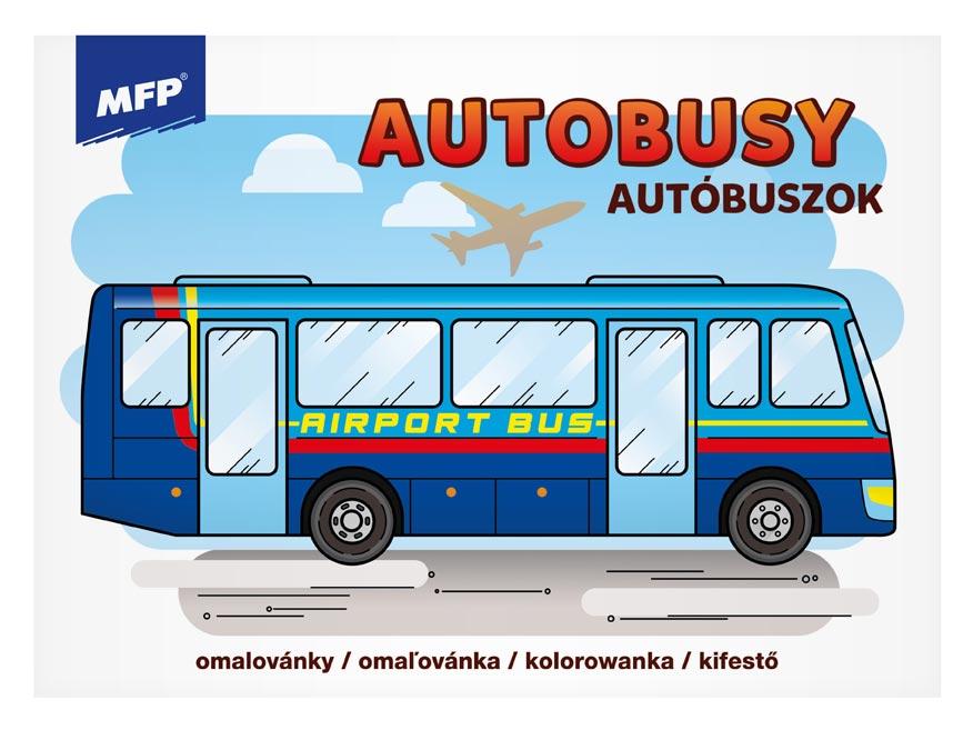 omaľovánky Autobusy 5301040