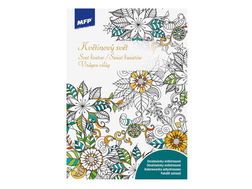 MFP 5301044 Omaľovánky antistresové Svet kvetov 210x296/32s