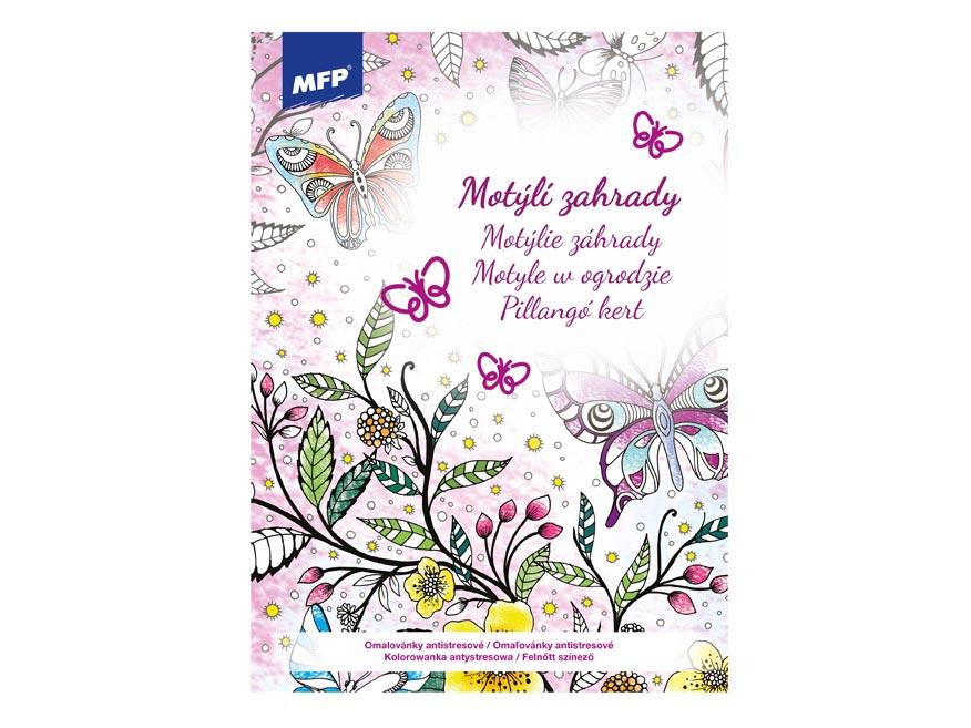 omaľovánky A4 antistresové Motýlie záhrady 210x290mm/32s 5301079