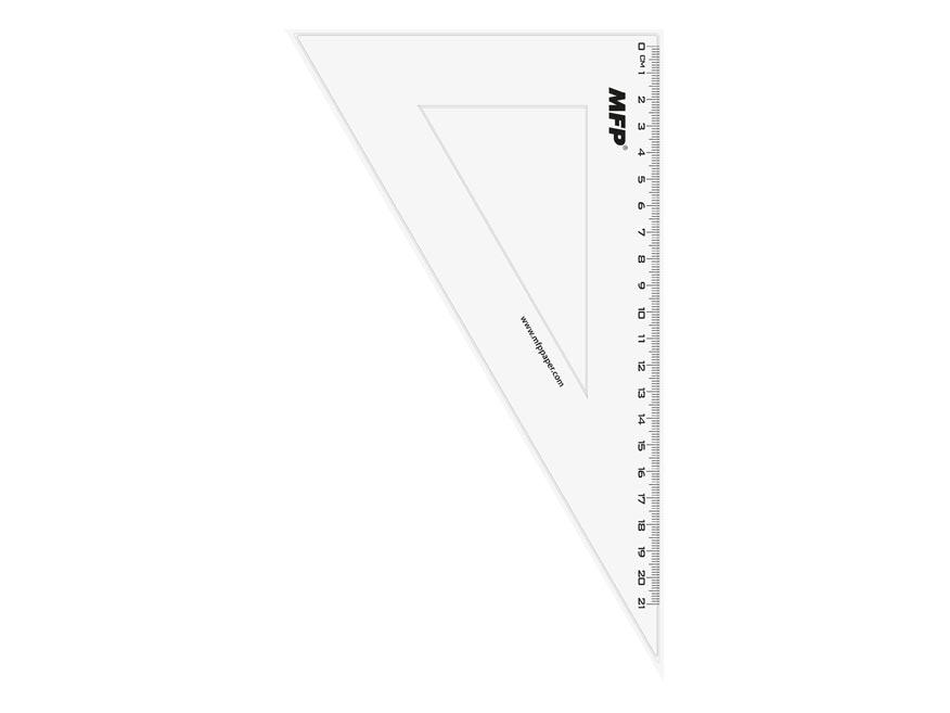 Pravítko trojuholník 30- 60 bez závesu