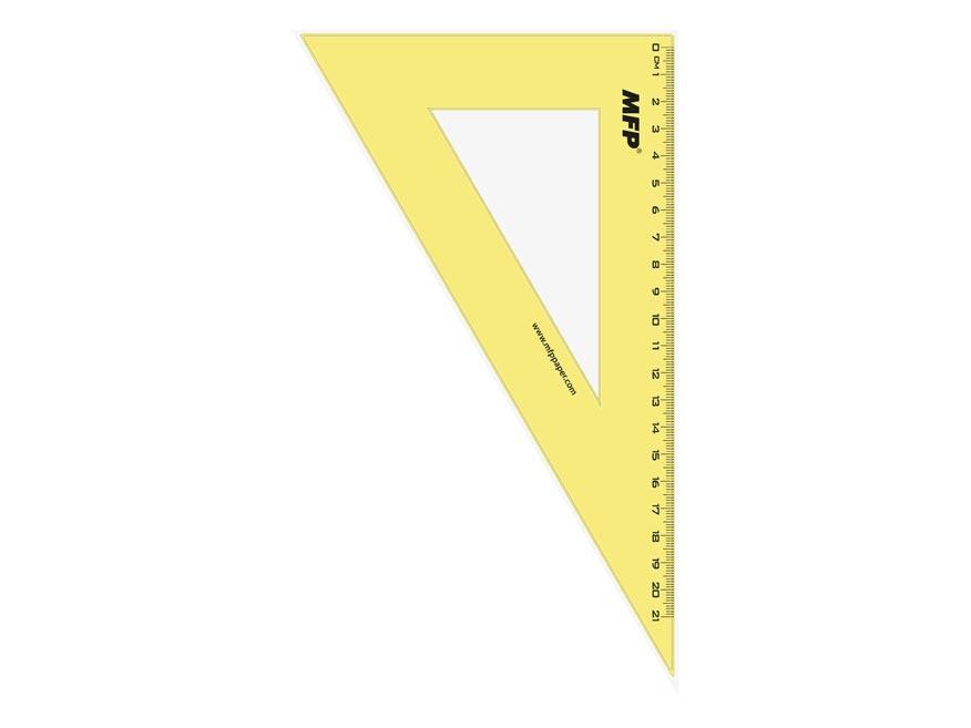 Pravítko trojuholník 30- 60 zelené bez závesu