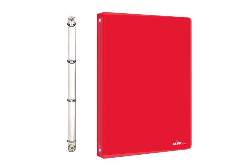 Poradač M 4- krúžok červený PP A4
