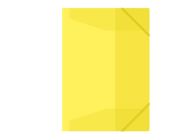 Zložka M A4 žltá 3 klopá s gumou ME100- 1