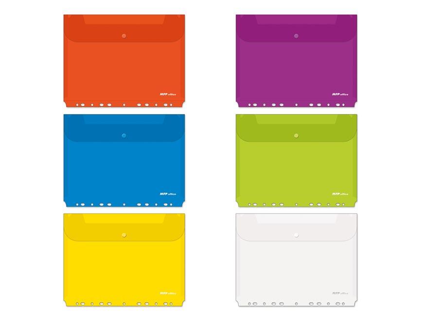 Zložka M s cvokom A4 závesná mix farieb