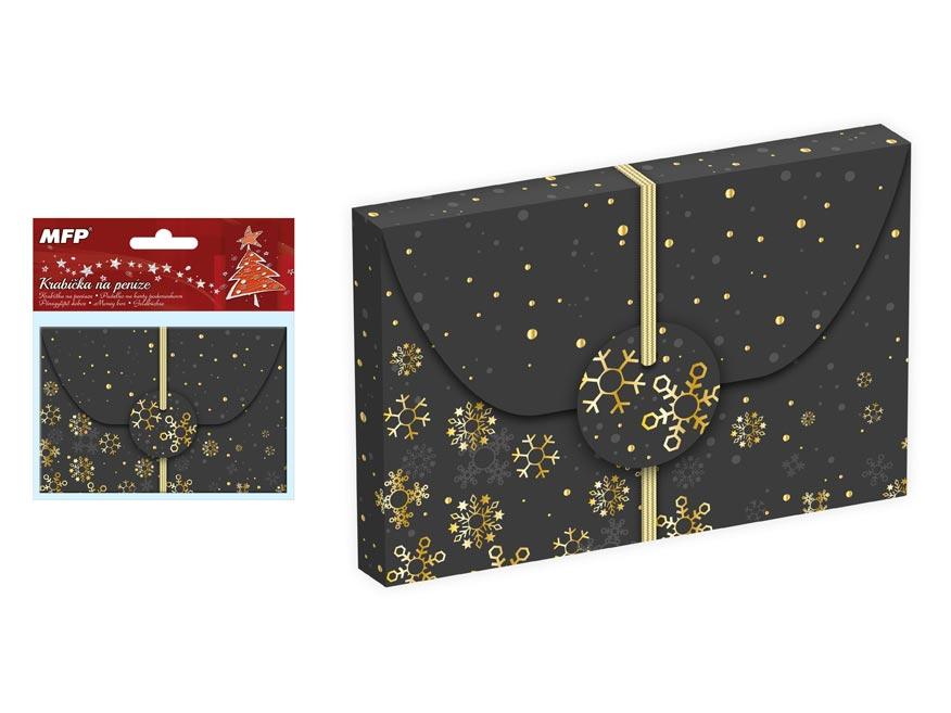 krabička na peniaze vianočná 12x8x1cm 5370491