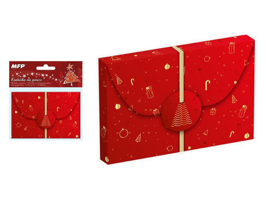 krabička na peniaze vianočná 12x8x1cm 5370493