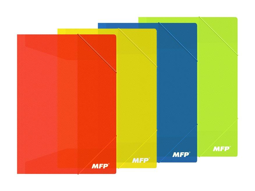 Zložka M A4 mix farieb 3 klop.s gumou PP