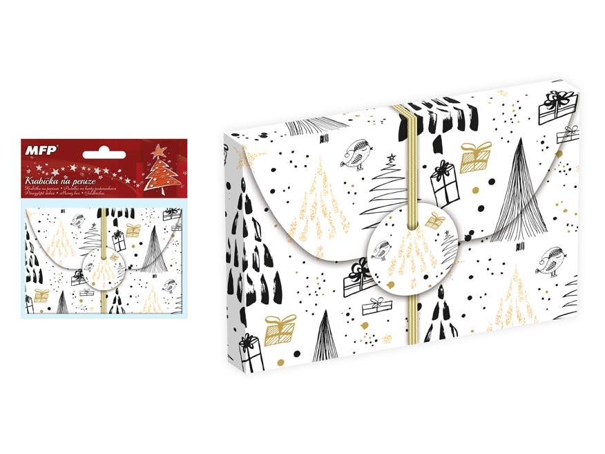 krabička na peniaze vianočná 12x8x1cm 5370539