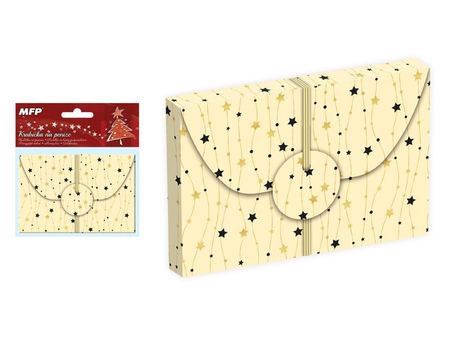 krabička na peniaze vianočná 12x8x1cm 5370540