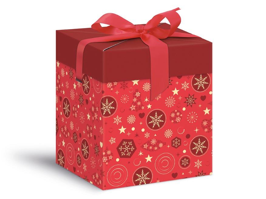 krabička darčeková vianočná 12x12x15cm 5370570