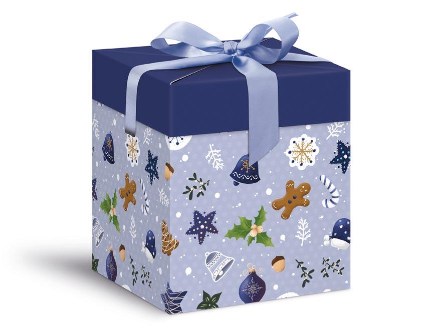 krabička darčeková vianočná 12x12x15cm 5370571