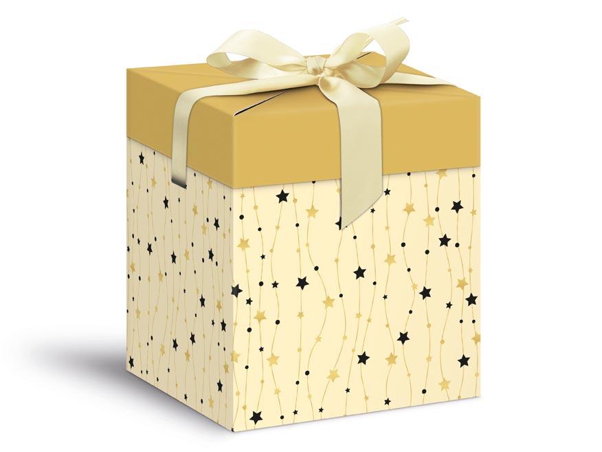 krabička darčeková vianočná 12x12x15cm 5370572