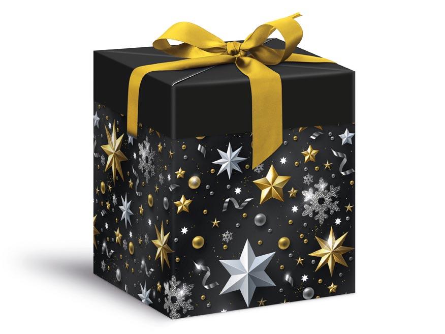 krabička darčeková vianočná 12x12x15cm 5370573