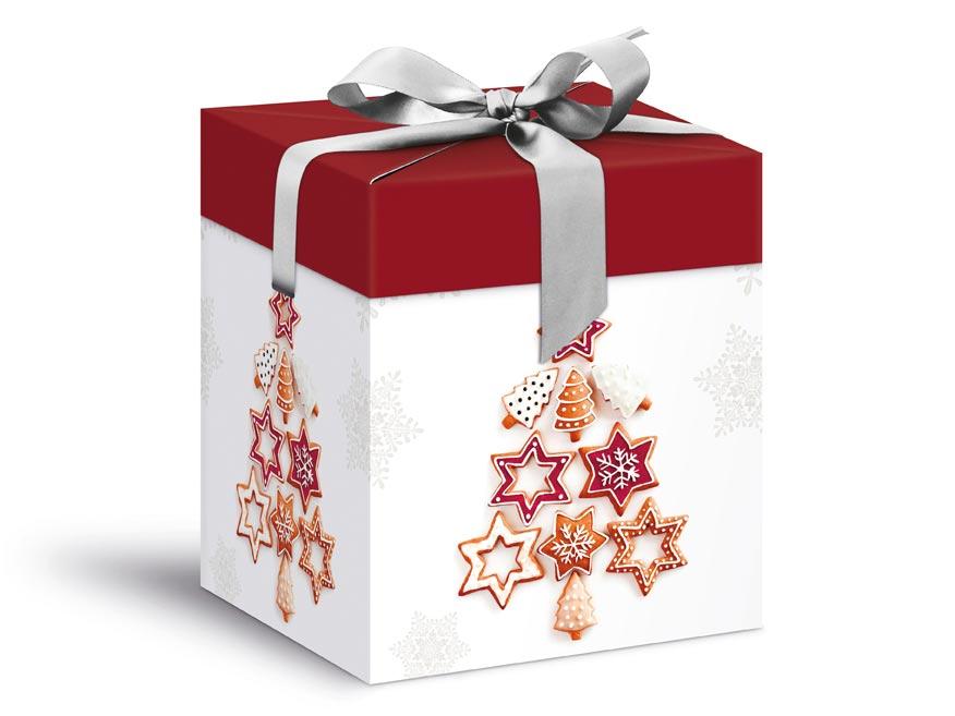 krabička darčeková vianočná 12x12x15cm 5370574