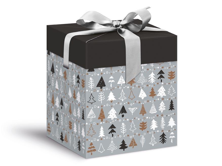 krabička darčeková vianočná 12x12x15cm 5370575
