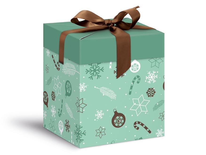 krabička darčeková vianočná 12x12x15cm 5370600