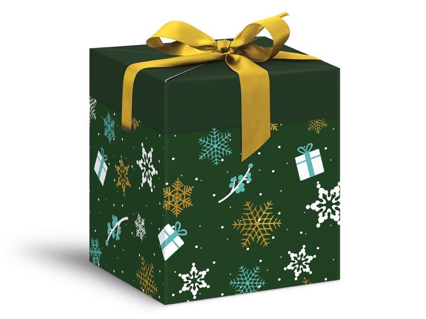 krabička darčeková vianočná 12x12x15cm 5370601