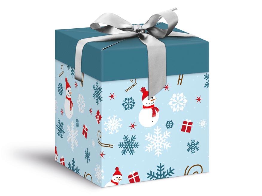 krabička darčeková vianočná 12x12x15cm 5370602