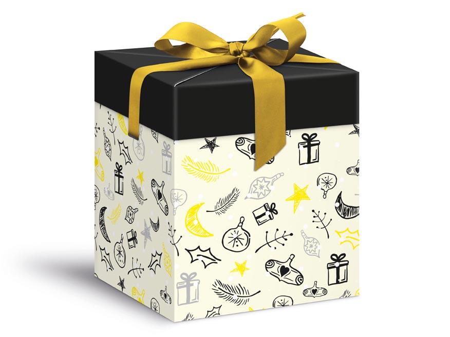 krabička darčeková vianočná 12x12x15cm 5370603