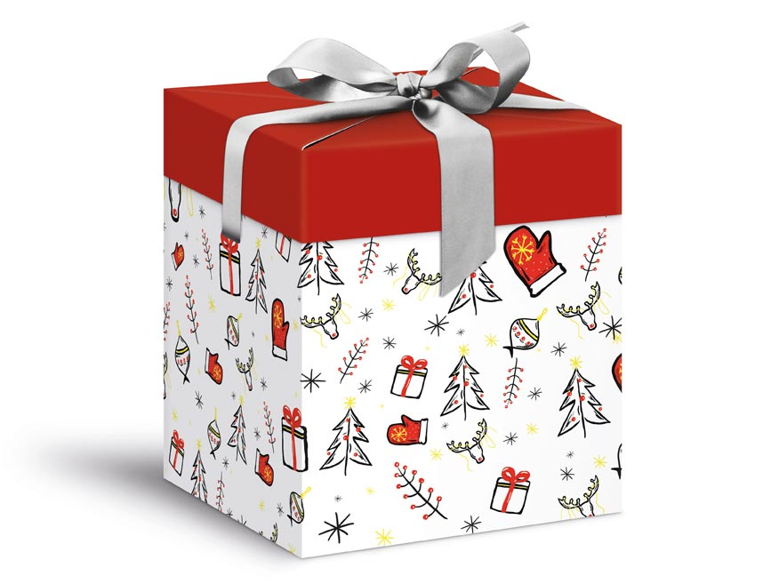 krabička darčeková vianočná 12x12x15cm 5370604