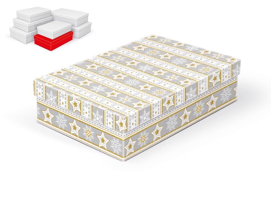 krabička darčeková vianočná  A-V003-C 28x18x7cm 5370711