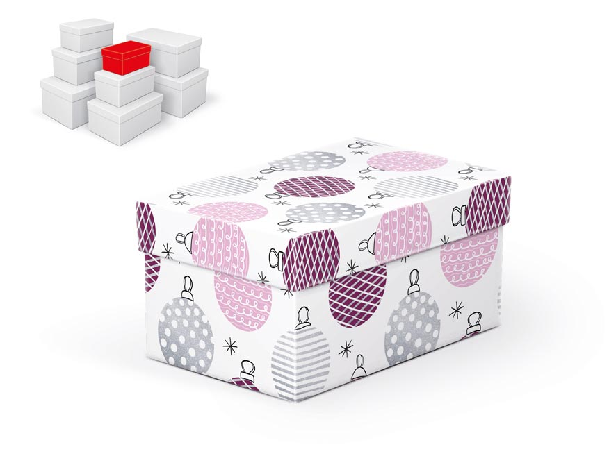 krabička darčeková vianočná  B-V003-A 16x10x8cm 5370716