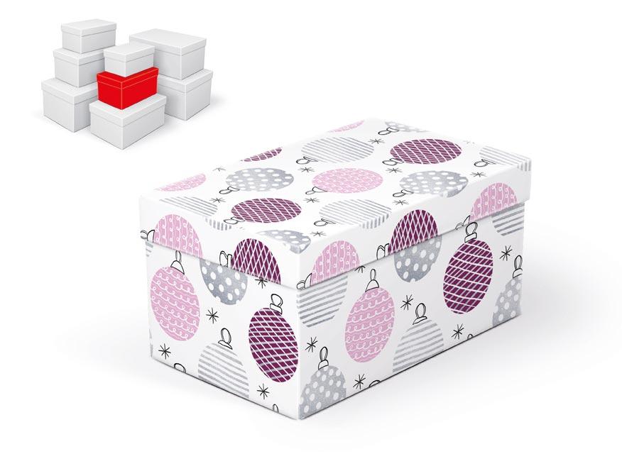 krabička darčeková vianočná  B-V003-C 20x12x10cm 5370718