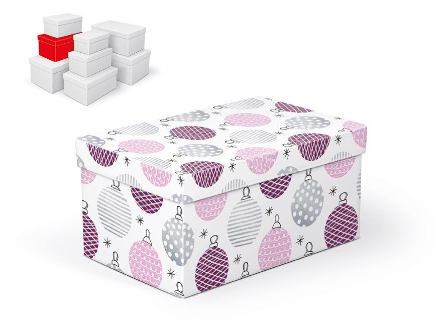 krabička darčeková vianočná  B-V003-D 22x14x11cm 5370719