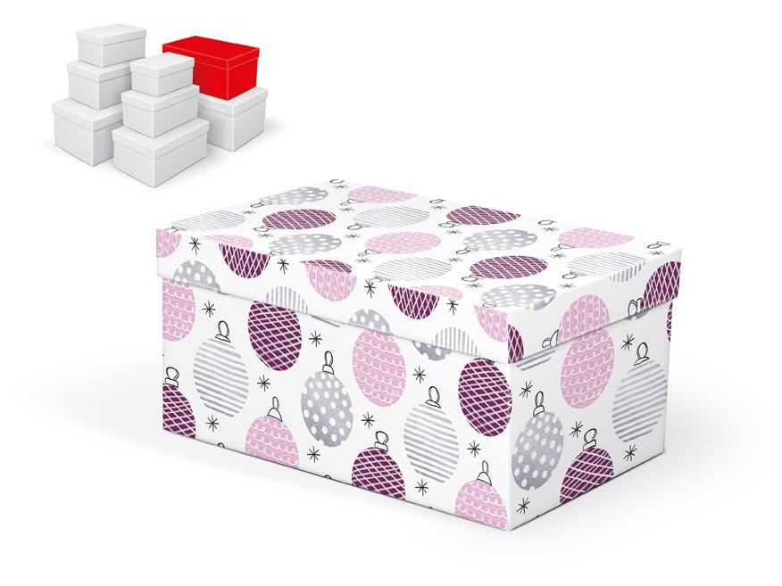 krabička darčeková vianočná  B-V003-F 26x17x13cm 5370721