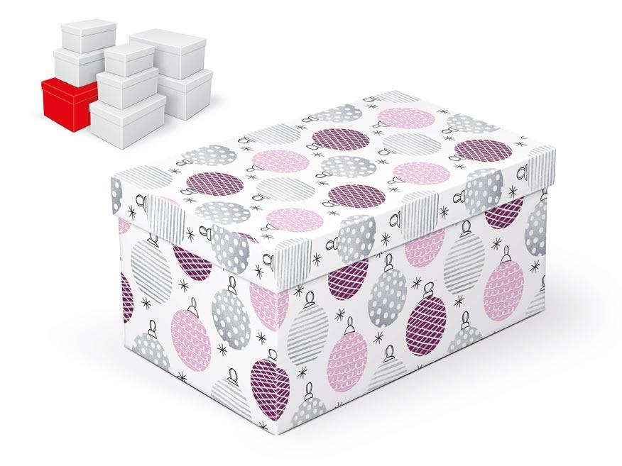krabička darčeková vianočná  B-V003-G 28x18x14cm 5370722