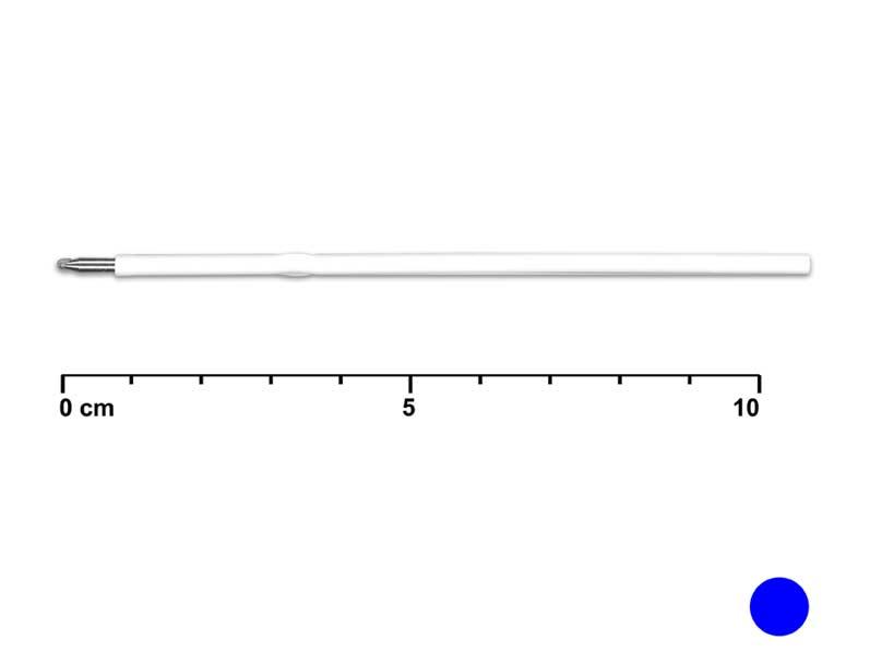 Náplň 10,7/3,5cm tip 0,7mm modrá (biele telo)