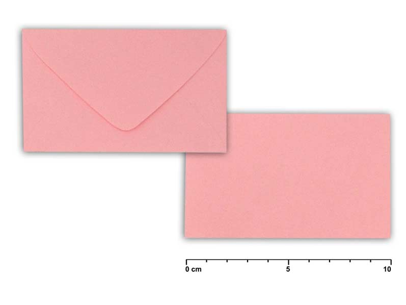 Obálka listová  5,5cmx10cm 2 ružová