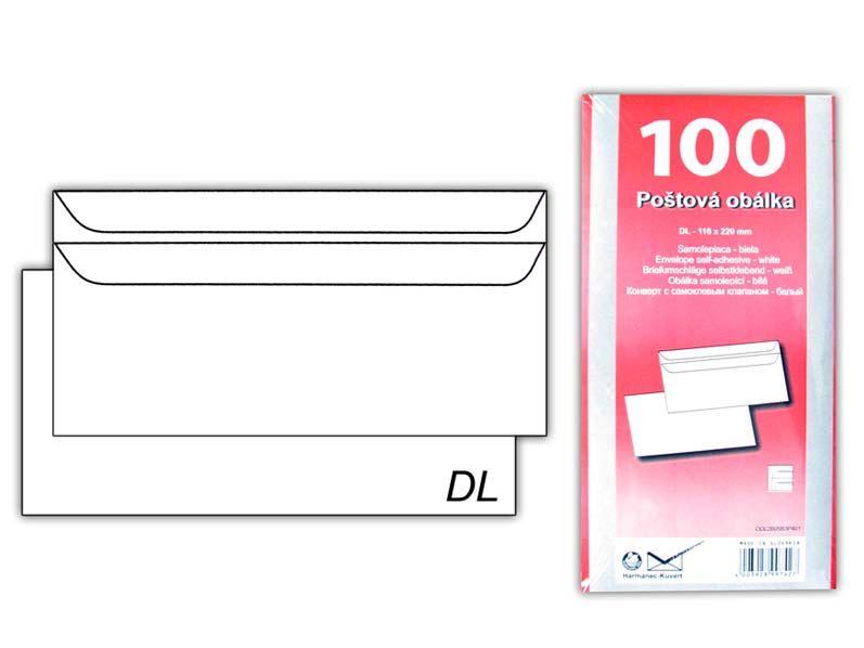 Listová obálka DL samolepiaca K-DL/80SX/P/100