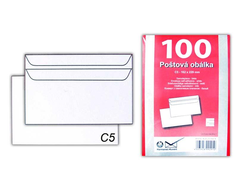Listová obálka C5 samolepiaca K-C5/80SX/P/100