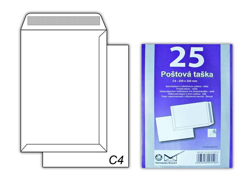 Listová obálka C4 samolepiaca T-C4/100SK/P/25