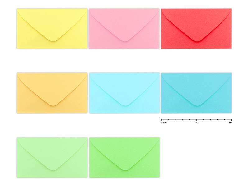 Listová obálka 5,5cmx10cm farebná mix