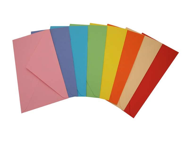 Listová obálka DL farebná mix