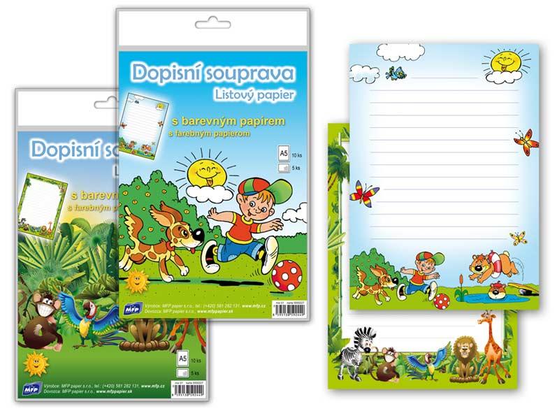 Listový papier farebný 5+10 (detský)