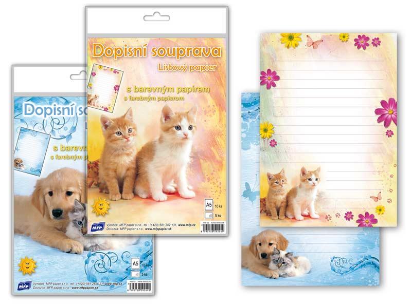 Listový papier farebný 5+10 (zvieratá)