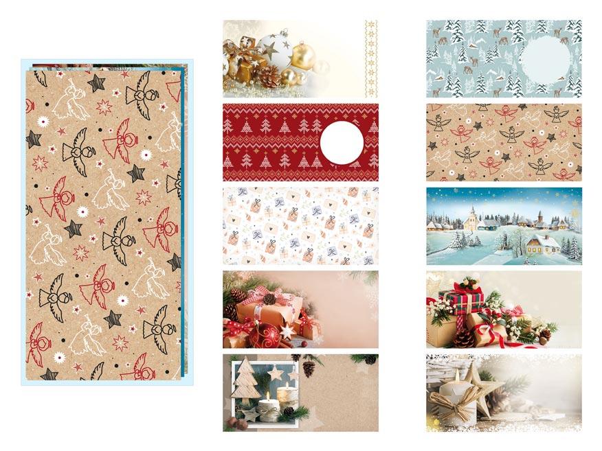 listová obálka DL vianočná (mix) 5550251