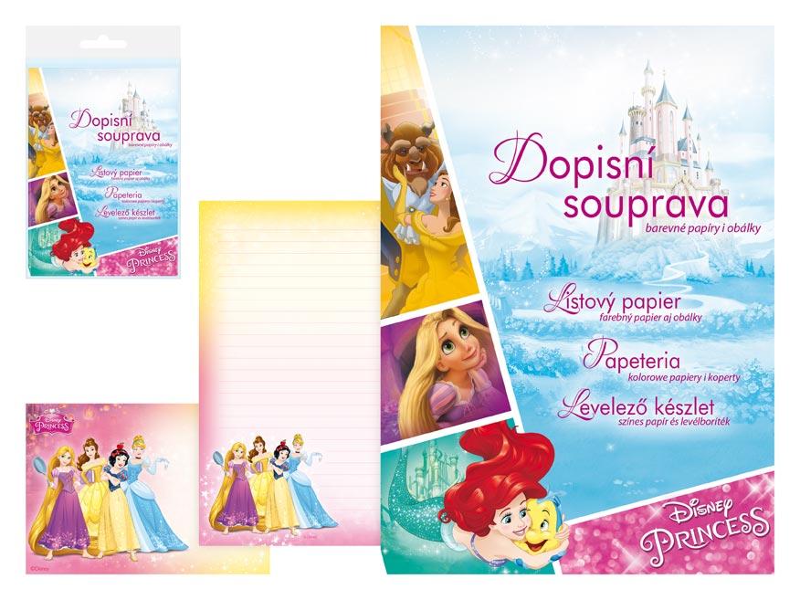 Listový papier farebný LUX 5+10 Disney (Princess)