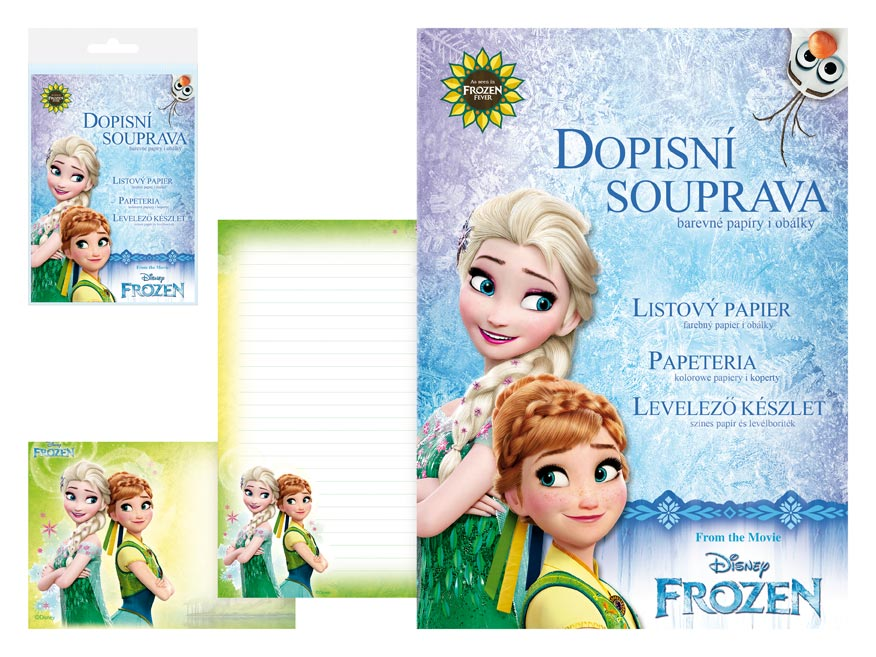 Listový papier farebný LUX 5+10 Disney (Frozen)