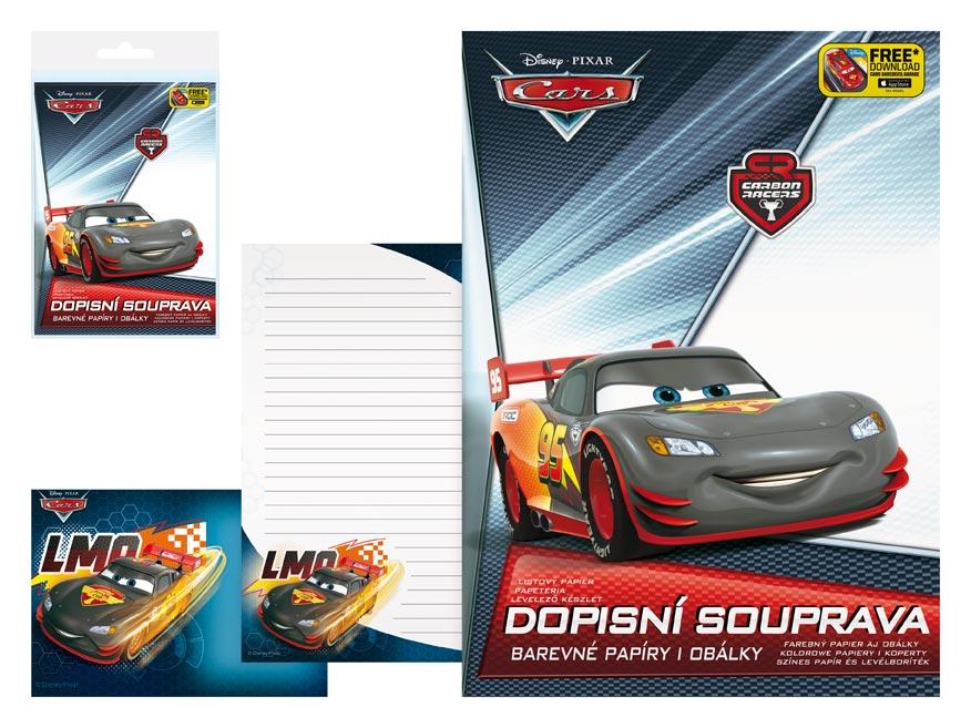 Listový papier farebný LUX 5+10 Disney (Cars)