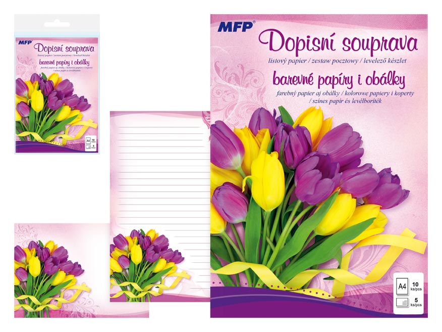 Listový papier farebný LUX 5+10 (kvety 5)