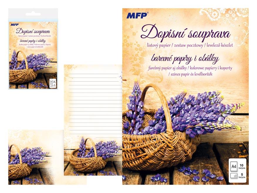 Listový papier farebný LUX 5+10 (košík)