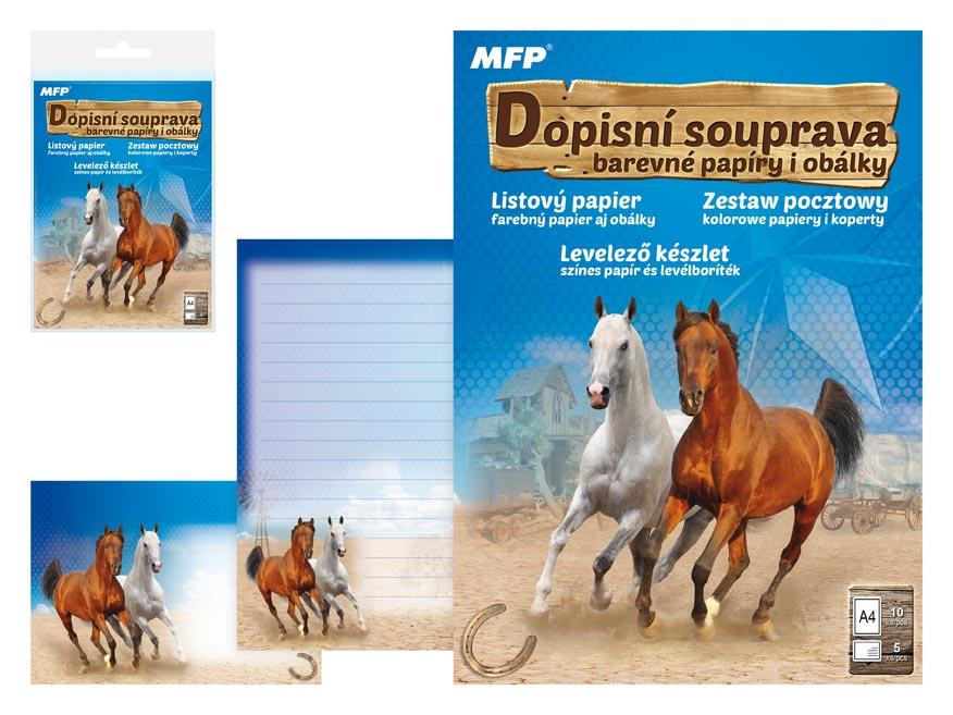 Listový papier farebný LUX 5+10 (kôň 2)