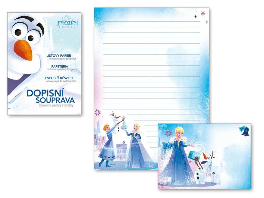 listový papier farebný LUX 5+10 Disney (Frozen) 5550270