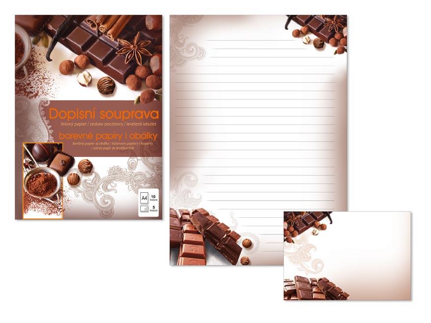Listový papier farebný LUX 5+10 (Chocolate)